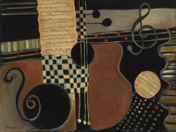 Musical Theme Painting - Allegro Moderato by Susan Rinehart