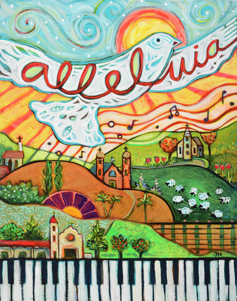 Worship Wall Art - Painting - Alleluia by Jen Norton