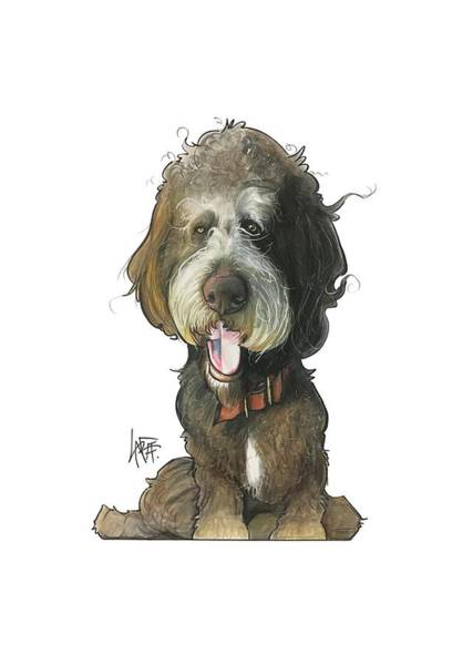 Pet Portrait Drawing - Allen 3233 by John LaFree