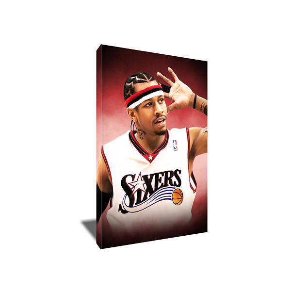 76ers Painting - Allen Iverson Canvas Art by Art-Wrench Com