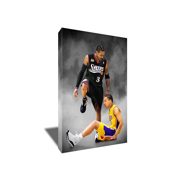 76ers Painting - Allen Iverson Cross Over Step Over Canvas Art by Art-Wrench Com