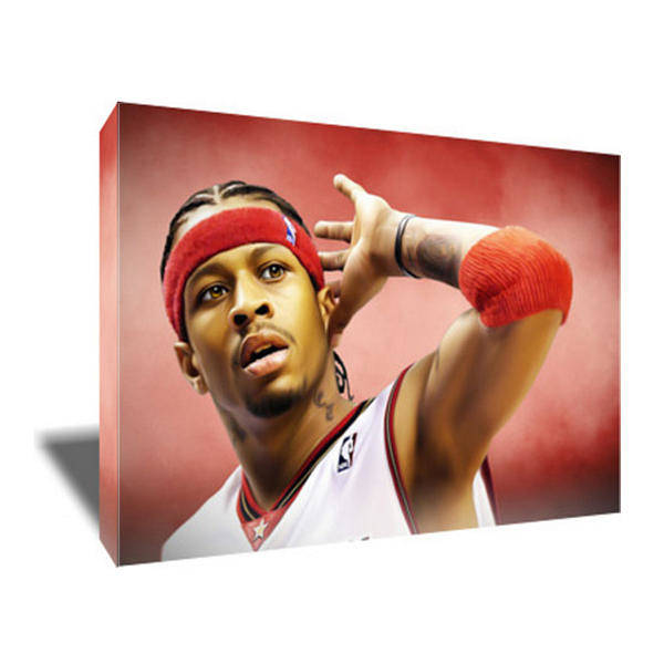 76ers Painting - Allen Iverson II Canvas Art by Art-Wrench Com