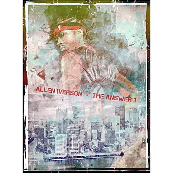 Wall Art - Photograph - Allen Iverson The Answer Ai by David Haskett II