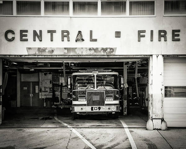 Central Fire Station Photograph - Allentown Central Fire Staton by Barry Cruver