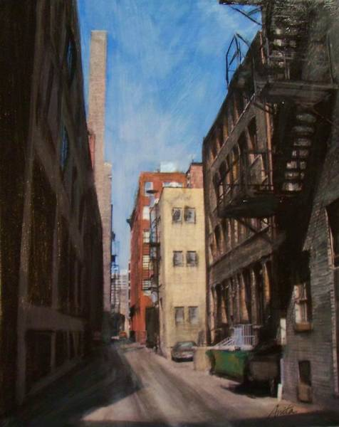 Mixed Media - Alley 3rd Ward by Anita Burgermeister