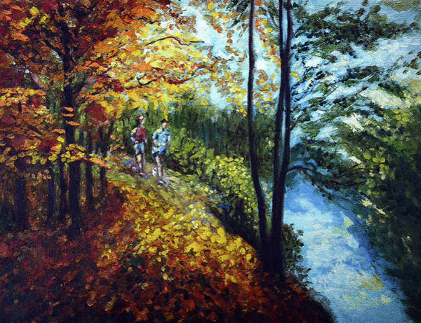 Jogging Painting - Alley By The Lake 1 by Harsh Malik