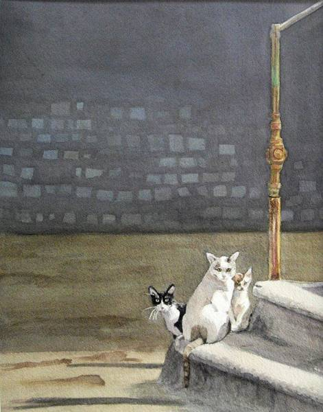 Painting - Alley Cats - Gatti Randaggi by Mimi Boothby