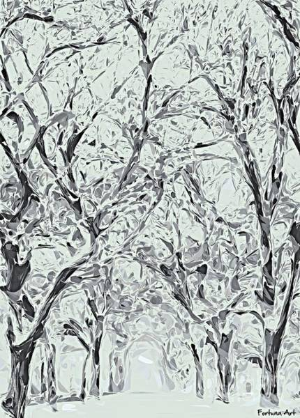Wall Art - Digital Art - Alley In Winter by Dragica Micki Fortuna