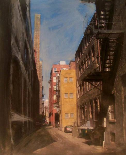 Mixed Media - Alley Series 2 by Anita Burgermeister