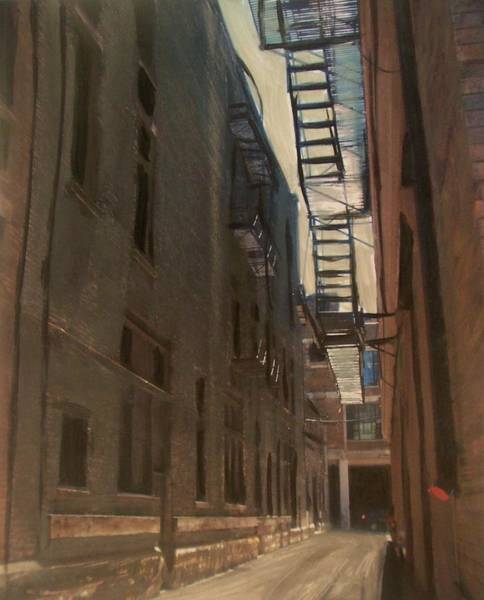 Painting - Alley Series 5 by Anita Burgermeister