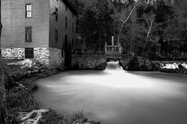 Photograph - Alley Spring Black And White by Steve Stuller