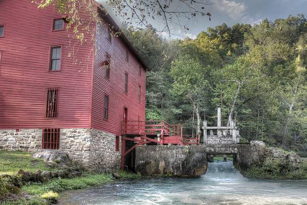 Riverway Photograph - Alley Spring Mill Ozark National Scenic Riverway by Jane Linders