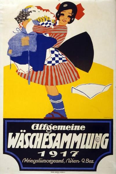 Clothing Mixed Media - Allgemeine Waschesammlung 1917 - Vintage Clothing Advertising Poster by Studio Grafiikka