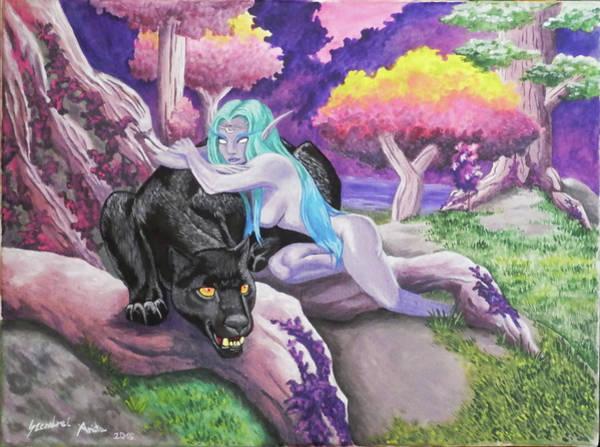 World Of Warcraft Wall Art - Painting - Alliance by Anita Szendrei