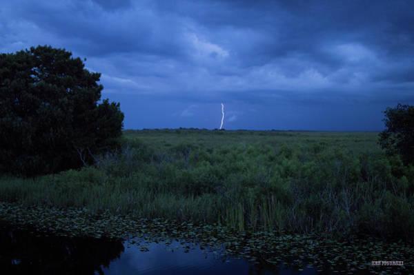 Alligator Alley Photograph - Alligator Alley Lightning 4 by Ken Figurski