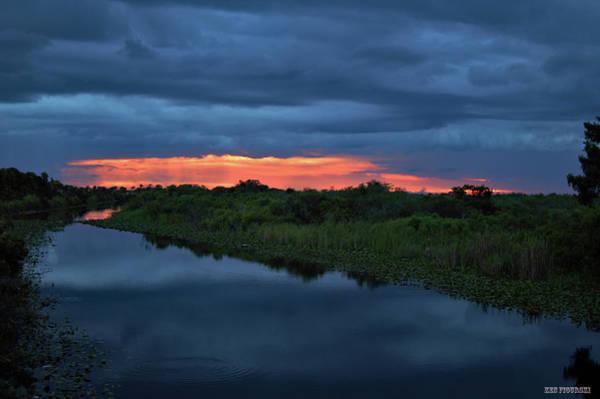 Alligator Alley Photograph - Alligator Alley Thunderstorm Sunset by Ken Figurski