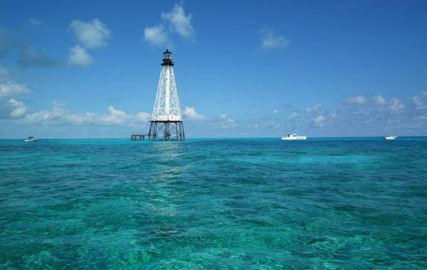 Alligators Wall Art - Photograph - Alligator Reef Lighthouse by Tammy Chesney
