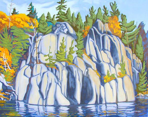 Wall Art - Painting - Alligator Rock Charlton Lake by Paul Gauthier