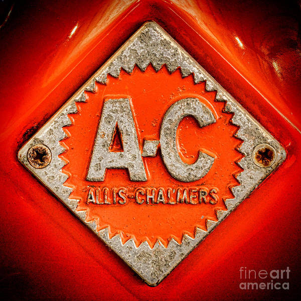 Copyright Wall Art - Photograph - Allis Chalmers Badge by Olivier Le Queinec