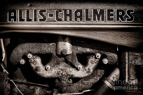 Wall Art - Photograph - Allis Chalmers Grunge by Olivier Le Queinec