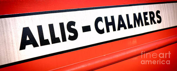 Photograph - Allis Chalmers Nameplate by Olivier Le Queinec