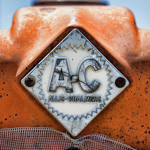 Wall Art - Photograph - Allis-chalmers Vintage Logo by Stephen Stookey