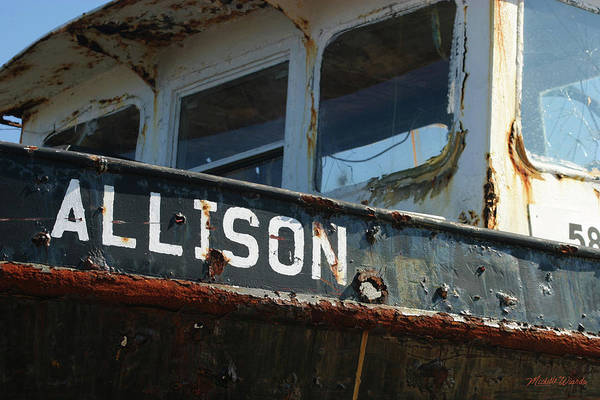 Allison Photograph - Allison Wellfleet Fishing Boat Cape Cod Massachusetts by Michelle Constantine
