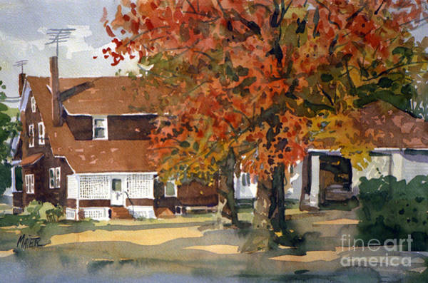 Residences Wall Art - Painting - Allison's House by Donald Maier