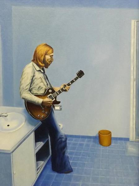 Allman Painting - The Blues by Charles Hill