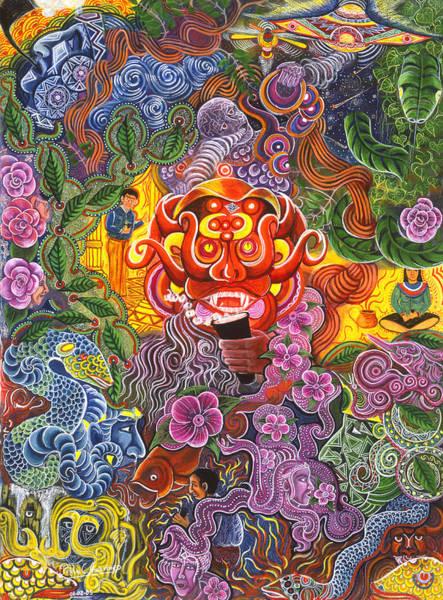 Art Print featuring the painting Allpa Manchari by Pablo Amaringo