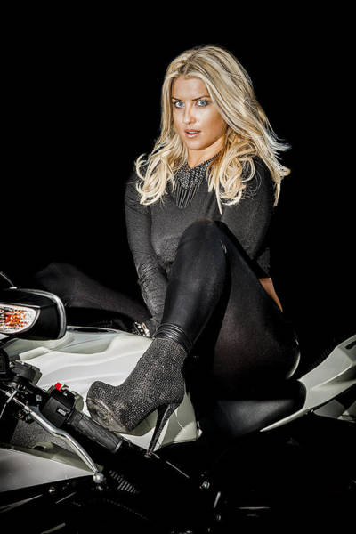 Biker Photograph - Allure by Paul Neville