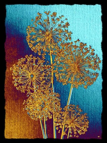 Border Mixed Media - Alluring Allium Abstract 2 by Will Borden