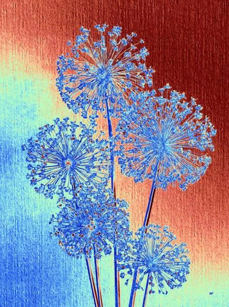 Wall Art - Mixed Media - Alluring Allium Abstract by Will Borden