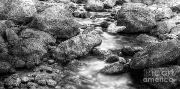 Wall Art - Photograph - Alluvial Fan Stream In Black And White by Twenty Two North Photography