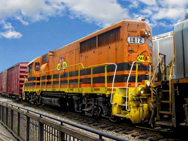 Photograph - Alm Train Engine by Anthony Dezenzio