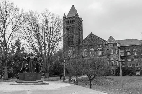 Alma Mater And Law Library University Of Illinois  Art Print