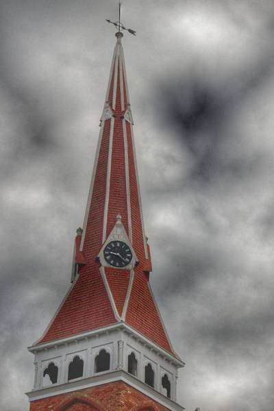 Photograph - 4002 - Almont Church Spire by Sheryl Sutter