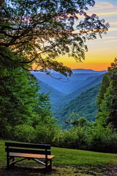 Park Bench Photograph - Almost Heaven - West Virginia 3 by Steve Harrington