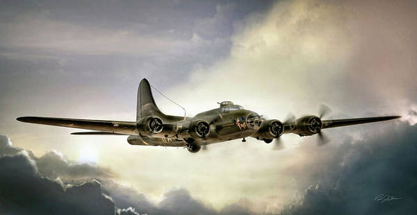 United States Air Force Digital Art - Almost Home Memphis Belle by Peter Chilelli