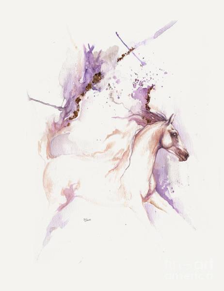 Wall Art - Painting - Almost Like An Unicorn 2 by Angel Ciesniarska