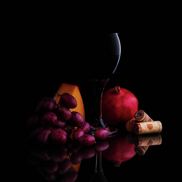 Wineglass Wall Art - Photograph - Almost Wine by Tom Mc Nemar
