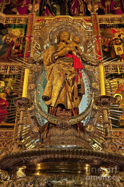 Senora Photograph - Almudena Cathedral Alter by John Greim