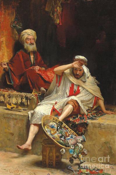 Wall Art - Painting - Alnaschar's Fortune, Arabian Nights, 1879 by William Ewart Lockhart