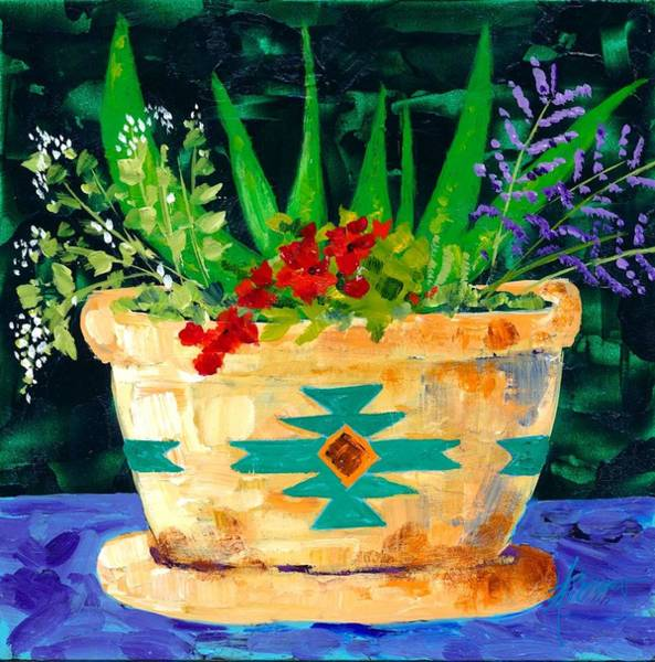 Painting - Aloe Vera And Friends  by Adele Bower