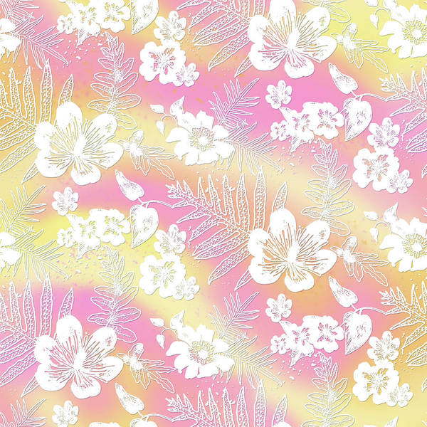 Digital Art - Aloha Lace Passion Guava Sorbet by Karen Dyson