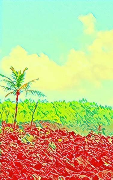Aloha Lava Aina Hawaii Sky Art Print