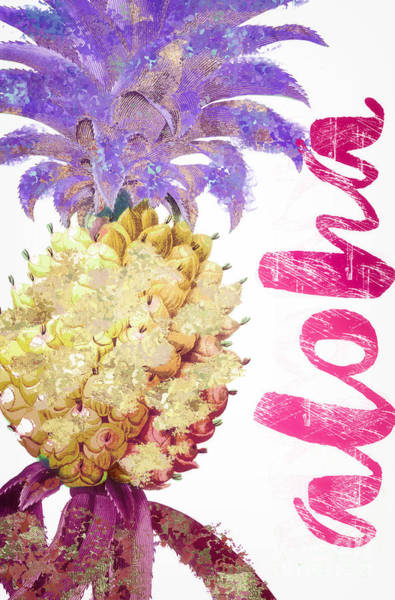Wall Art - Painting - Aloha Pineapple Too by Mindy Sommers