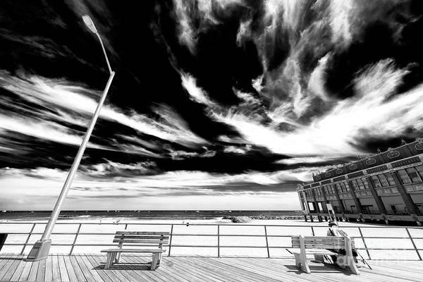 Photograph - Alone At Asbury Park by John Rizzuto