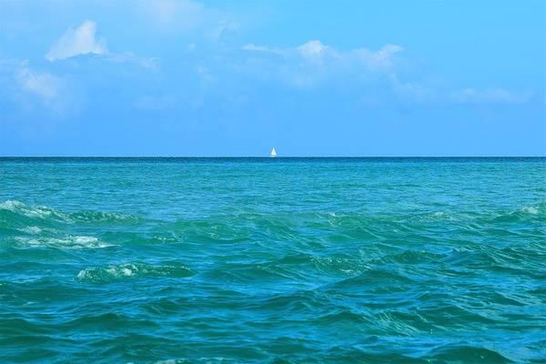 Turqoise Photograph - Alone At Sea by Mary Ann Artz