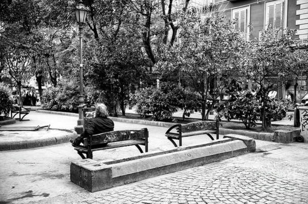 Wall Art - Photograph - Alone In A Park In Napoli by John Rizzuto